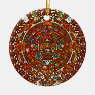 mayan aztec Calendar Ornament