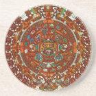 mayan aztec calendar sandstone coaster