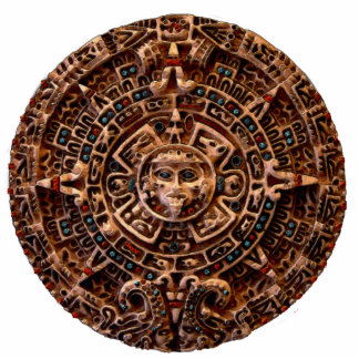 MAYAN AZTEC Mexican History Sun (sculpted) Magnet Photo Sculpture Magnet
