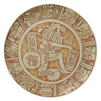 mayan ball game plate