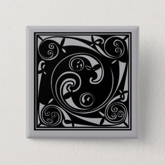 Mayan Block 2 Inch Square Button