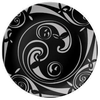 Mayan Block Porcelain Plate