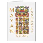Mayan Calendar 12-21-2012 Greeting Card