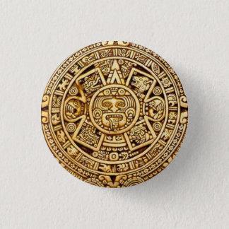 Mayan calendar 1 inch round button
