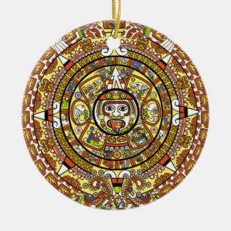 Mayan Calendar 2012 End of the World Prophesy Round Ceramic Ornament