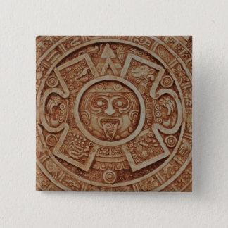 Mayan Calendar 2 Inch Square Button