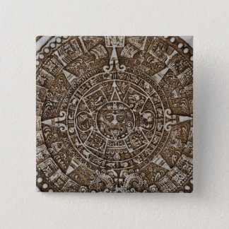 Mayan Calendar 2 Inch Square Button