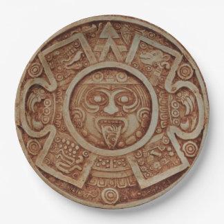 Mayan Calendar 9 Inch Paper Plate