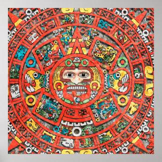 Mayan Calendar Art Poster