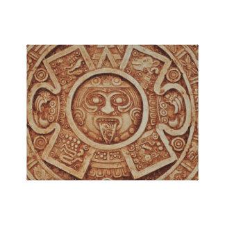 Mayan Calendar Canvas Print