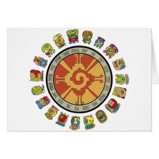 Mayan Calendar Design Card