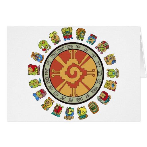 Mayan Calendar Design Greeting Card