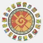 Mayan Calendar Design Round Stickers