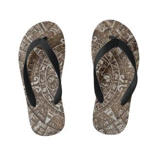 Mayan Calendar Kid's Flip Flops