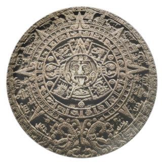 Mayan Calendar Plate