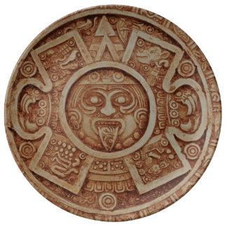 Mayan Calendar Porcelain Plate