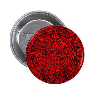 Mayan Calendar Red 2 Inch Round Button