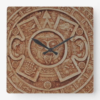 Mayan Calendar Square Wall Clock