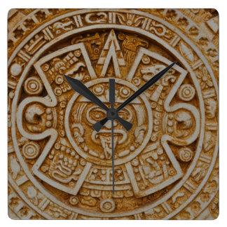 Mayan Calendar Square Wall Clock