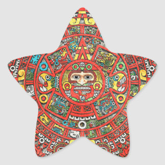 Mayan Calendar Star Sticker