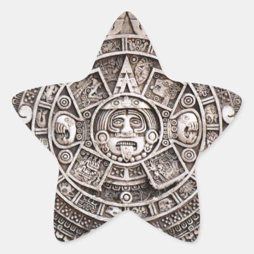 Mayan Calendar Star Sticker