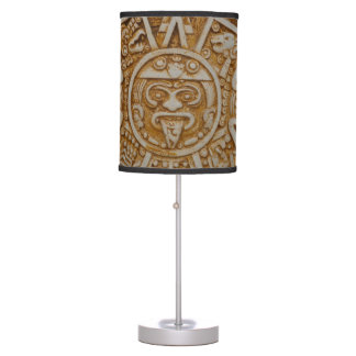 Mayan Calendar Table Lamp
