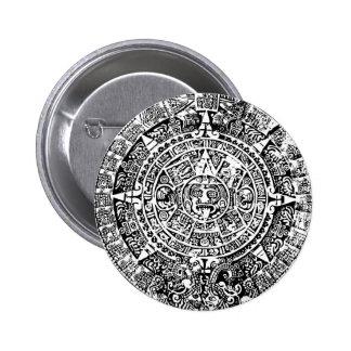 Mayan Calendar White 2 Inch Round Button