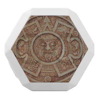 Mayan Calendar White Bluetooth Speaker