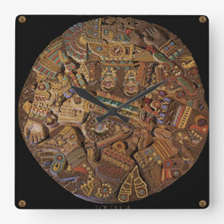 Mayan Carved Stone Aztec Mexican Art History Clock