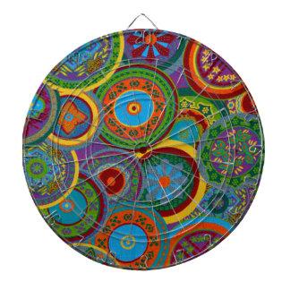 Mayan Circle Pattern Background Dartboard