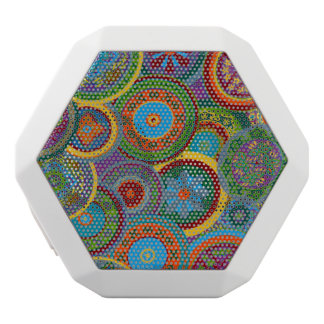 Mayan Circle Pattern Background White Bluetooth Speaker