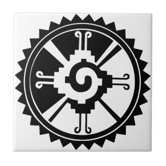 Mayan Deity Symbol Hunab Ku Tile