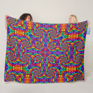 Mayan Dragon Fiesta Fleece Blanket