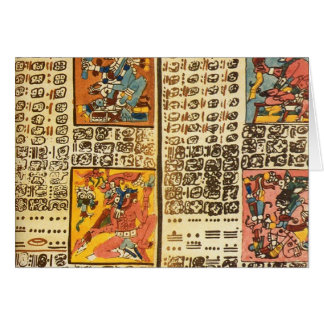 Mayan Dresden Codex Excerpts Card
