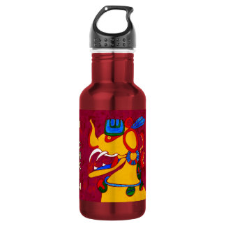 MAYAN GLYPH COLOP U UICHKIN- CANCUN 532 ML WATER BOTTLE