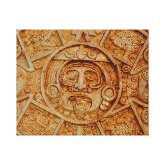 Mayan God Calendar Canvas Print