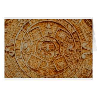 Mayan God Calendar Card