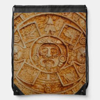 Mayan God Calendar Drawstring Bag