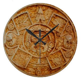 Mayan God Calendar Large Clock