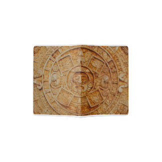 Mayan God Calendar Passport Holder