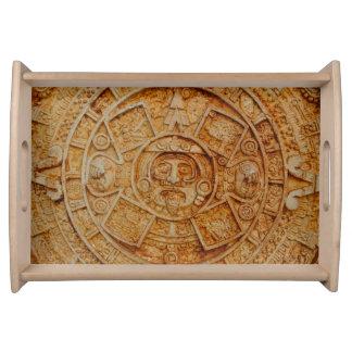 Mayan God Calendar Serving Tray