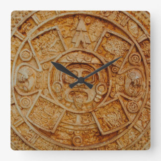 Mayan God Calendar Square Wall Clock