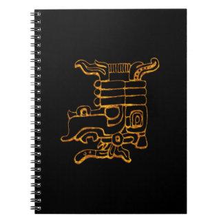 Mayan Gold Hieroglyphs Notebook