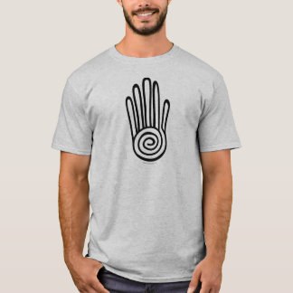 Mayan Hand - Black (Digital) Apparel T-Shirt