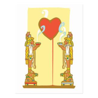 Mayan Heart Postcard