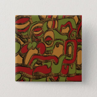 Mayan Hieroglyphs Design 2 Inch Square Button