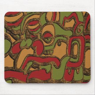 Mayan Hieroglyphs Design Mouse Pad