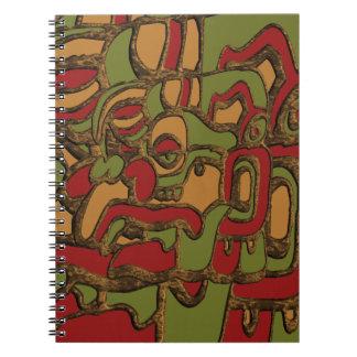 Mayan Hieroglyphs Design Notebook