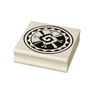 Mayan Hunab Ku Graphic Design Rubber Stamp
