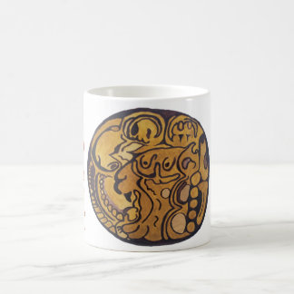 MAYAN JAGUAR COIN COFFEE MUG